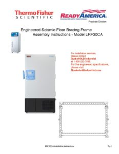 LRF30CA Recalculated General Engineered Floor Bracing Frame Installation Instructions