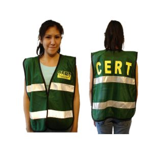 C.E.R.T Green Mesh Safety Vest with Reflective Stripes and Logo