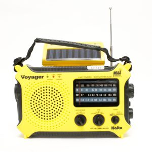 The Voyager – Solar AM/FM/SW/NOAA Weather Band Radio Flashlight