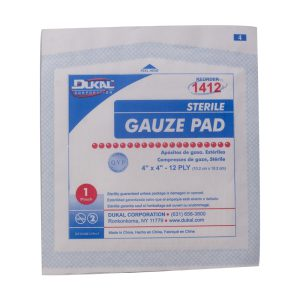 Sterile Gauze 4″ x 4″ Pads – Single
