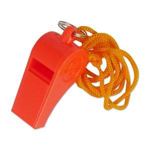 Plastic Distress Whistle w/ Lanyard