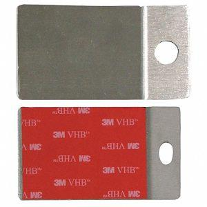 2×3 Stainless Steel Adhesive Plate