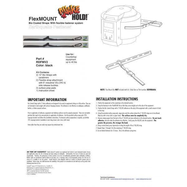 FlexMount Bio Coated Flexible Straps