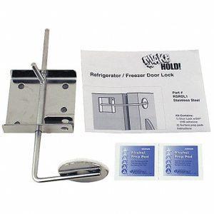 Refrigerator / Freezer Door Lock,Silver