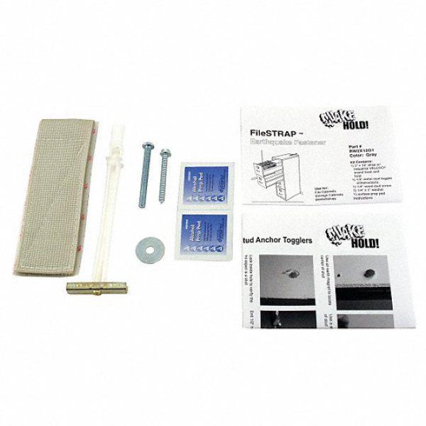 File Cabinet Fastener Strap,Gray