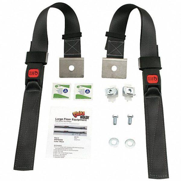 Large Floor Equipment Push Button Strut Strap