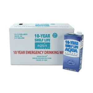 Aqua Literz Case of 10-Year Shelf Life
