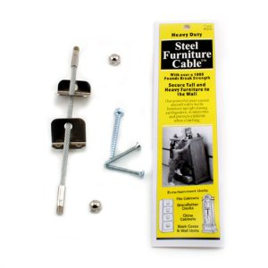 QuakeHOLD! Steel Furniture Cable – 4 in