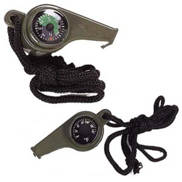 3-IN-1 Whistle/Compass/Thermometer