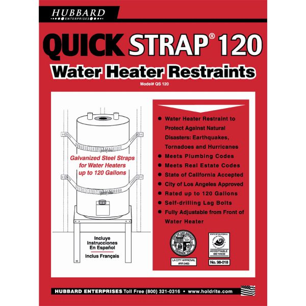 Water Heater Strap – 120 Gallon