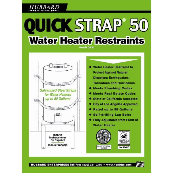 Water Heater Strap – 80 Gallon