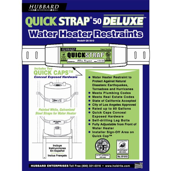 Water Heater Strap Deluxe – 80 Gallon