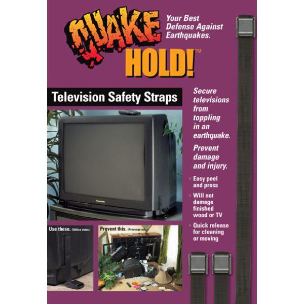 QuakeHOLD! TV Strap