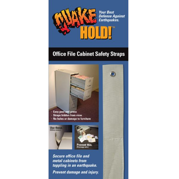 QuakeHOLD! Office File Cabinet Strap