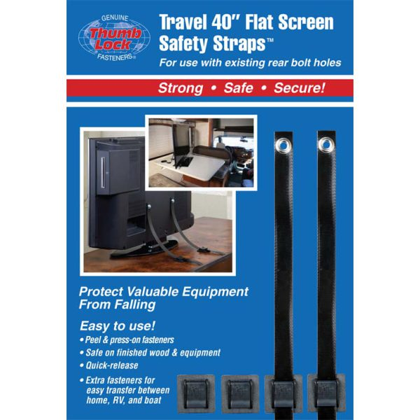 """Travel 40"""" Flat Screen Safety Straps"""